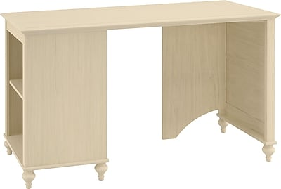 kathy ireland® Office by Bush Furniture Volcano Dusk Single Pedestal Bookcase Desk, Driftwood Dreams (ALA005DD)