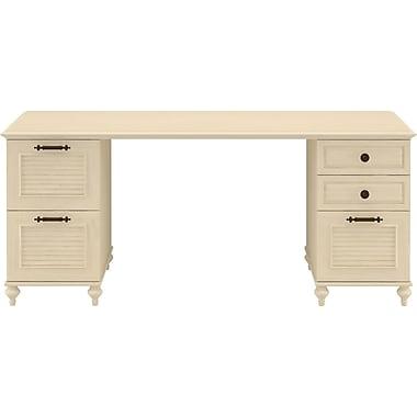 kathy ireland® Office by Bush Furniture Volcano Dusk Double Pedestal Desk, Driftwood Dreams (ALA006DD)