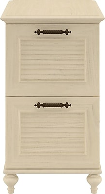 Kathy Ireland Volcano Dusk by Bush Furniture 2-Drawer File Cabinet, Antique White