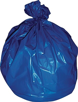 Heritage, Healthcare NonPrinted Bags/Liners, 20-30 Gallon, 30x43, Low Density, 1.3 Mil, Blue, 200 CT