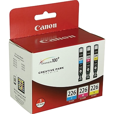 Canon CLI-226 C/M/Y Color Ink Cartridges (4547B005), Combo 3/Pack