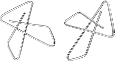 OIC Ideal Butterfly Clamps, Small, #2, Silver, 50/Bx