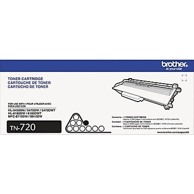 Brother TN720 Black Toner Cartridge (TN720)
