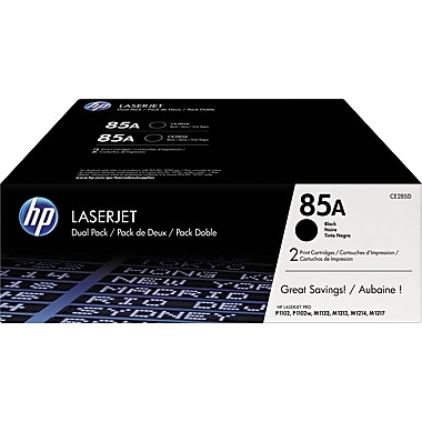HP 85A (CE285D) Black Original LaserJet Toner Cartridges, 2/Pack