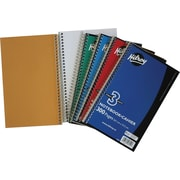 "Hilroy 3-Subject Notebook, 9-1/2"" x 6"", Assorted, 300 Pages"