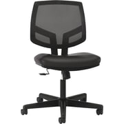 HON Volt Leather Computer and Desk Office Chair, Armless, Black (5713SB11T.COM) NEXT2017