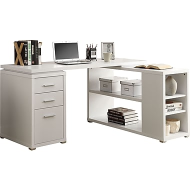 Monarch Hollowcore Left Or Right Facing Corner Desk White