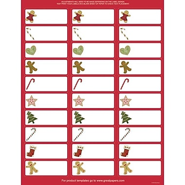 Great Papers® Holiday Card Address Labels Ginger Friends , 150/Count
