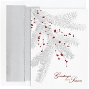 Great Papers® Holiday Cards Silver Branch Berries , 16/Count