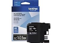 Brother Ink Cartridge, Black, High Yield (LC103BK)