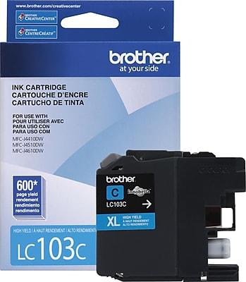 Brother Genuine LC103C Cyan High Yield Original Ink Cartridge