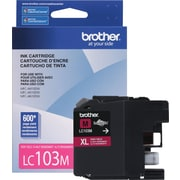 Brother LC103 Magenta Ink Cartridge, High Yield (LC103MS)