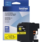 Brother LC103 Yellow Ink Cartridge, High Yield (LC103YS)
