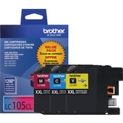 Brother Genuine LC1053PKS Cyan, Magenta, Yellow Super High Yield Original Ink Cartridges Multi-pack (3 cart per pack)