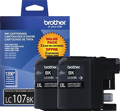 Brother Genuine LC1072PKS Black Super High Yield Original Ink Cartridges Multi-pack (2 cart per pack)
