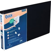 "Stride® QuickFit® 1"" Round-Ring Spreadsheet View Binder, Landscape Oriented, Black, For 8-1/2 x 14"""