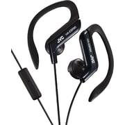 JVC Ear-Clip Headphones with MIC and Remote, Black