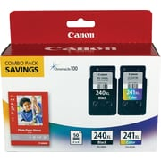 Canon PG-240XL Black and CL-241XL Color Ink Cartridges & Photo Paper (5206B005), Combo 2/Pack