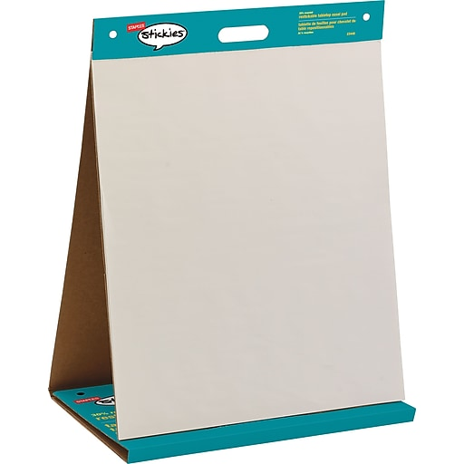 Staples stickies 23 x 20 repositionable tabletop easel pad 23448