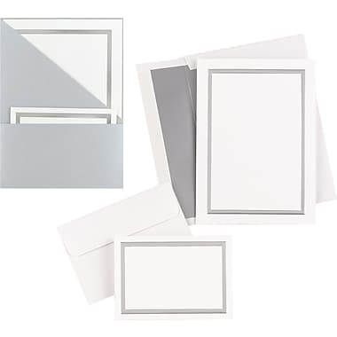 great papers silver shimmer folder wedding invitation kit - Wedding Invitations Staples