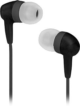 Memorex EB60 Softtouch Earbuds, Charcoal