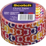 """Scotch® Brand Duct Tape, Love Note, 1.88"""" x 10 Yards"""