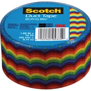 "Scotch® Brand Duct Tape, Roy-G-Biv, 1.88"" x 10 Yards"