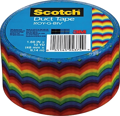 Scotch® Brand Duct Tape, Roy-G-Biv, 1.88