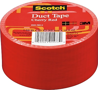 Scotch® Brand Duct Tape, Cherry Red, 1.88