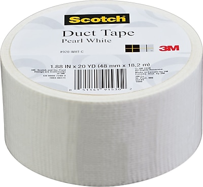 Scotch® Colored Duct Tape, Pearl White