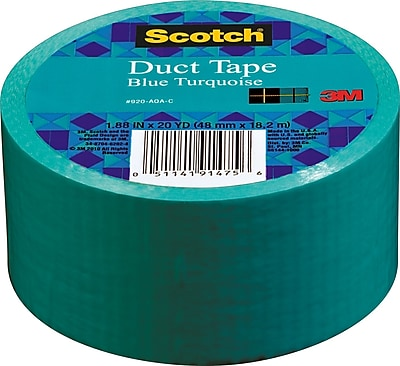 Scotch® Brand Duct Tape, Blue Turquoise, 1.88