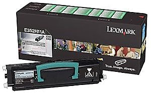 Lexmark E350 Black Toner Cartridge (E352H41G), High Yield Return Program
