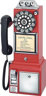 Crosley Radio 1950's Pay Phone, Red