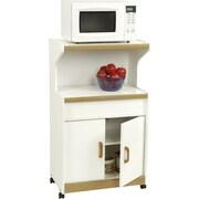 Altra Reggie Deluxe Microwave Cart, White/Oak