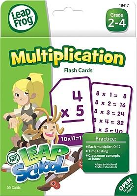 LeapFrog Flash Cards, Multiplication, Grades K-4