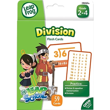 LeapFrog Flash Cards, Division, Grades K-4