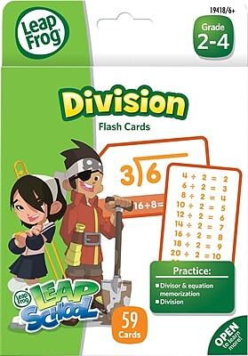 LeapFrog Flash Cards, Division, Grades K-4