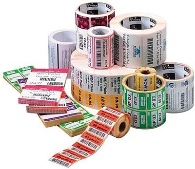 Zebra® Z-Select® 10010046 4000D Paper Thermal Transfer Label, White, 1 1/2