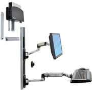 Ergotron® Healthcare 45253026 LX Wall Mount, Up To 20 lbs., Black
