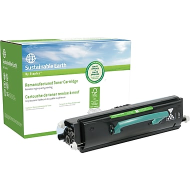Sustainable Earth by Staples Remanufactured Black Toner Cartridge, Lexmark E450