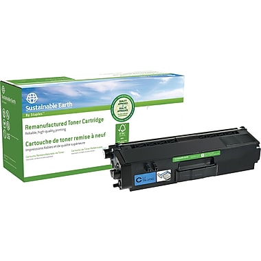 Sustainable Earth by Staples Remanufactured Cyan Toner Cartridge, Brother TN-315C, High Yield