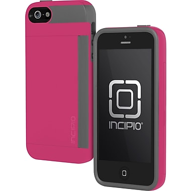 Incipio Side Stowaway Case for iPhone 5, Pink