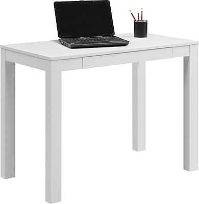 Parsons Desk with Drawer, White