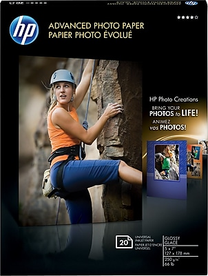 Advanced Photo Paper, 56 lbs., Glossy, 5 x 7, 20 Sheets/Pack