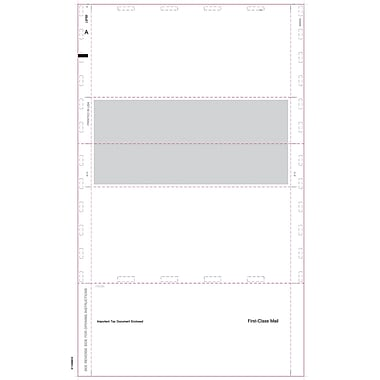 TOPS® Universal Tax Form, 1 Part, White, 8 1/2