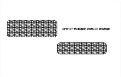 TOPS® Gummed W2C Tax Double Window Envelope, 24 lb., White, 5 3/4