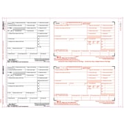 "TOPS™ W-2 Tax Form, 6 Part 2 Wide, Mailer, White, 14 7/8"" x 5 1/2"", 100 Forms/Pack"