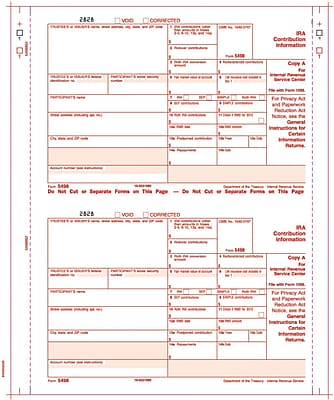 TOPS® 5498 Tax Form, 3 Part, White, 9