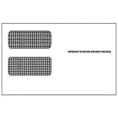 TOPS® Self Seal 2 up 1099 Tax Double Window Envelope, White, 5 5/8