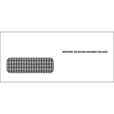 TOPS® Gummed 3 Up 1099 Tax Double Window Envelope, 24 lb., White, 3 3/4